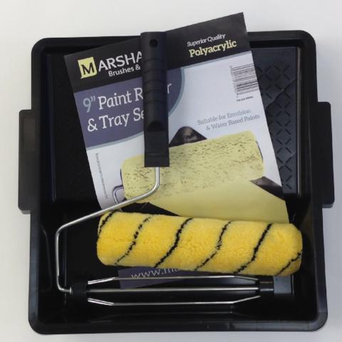 "Marshall 9"" Paint Roller and Tray Set"