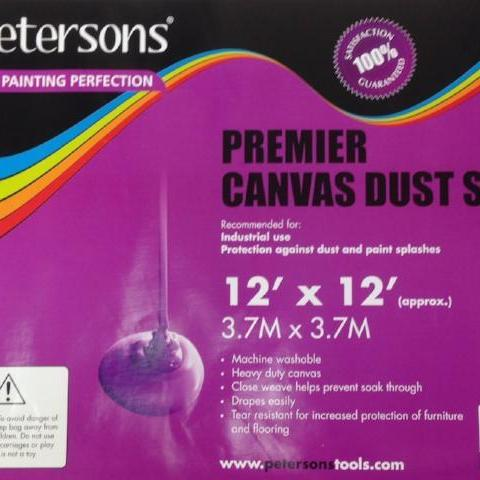 Petersons Premier Canvas Dust Sheet 12ft x 12ft
