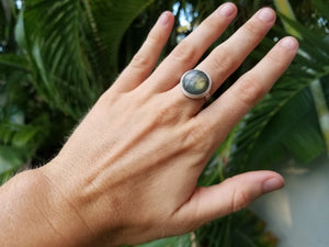 The Labradorite × Sterling Silver Ring