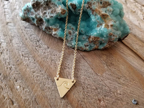 The Stamped Elemental Wave Necklace