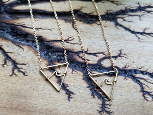 The Elemental Wave Necklace