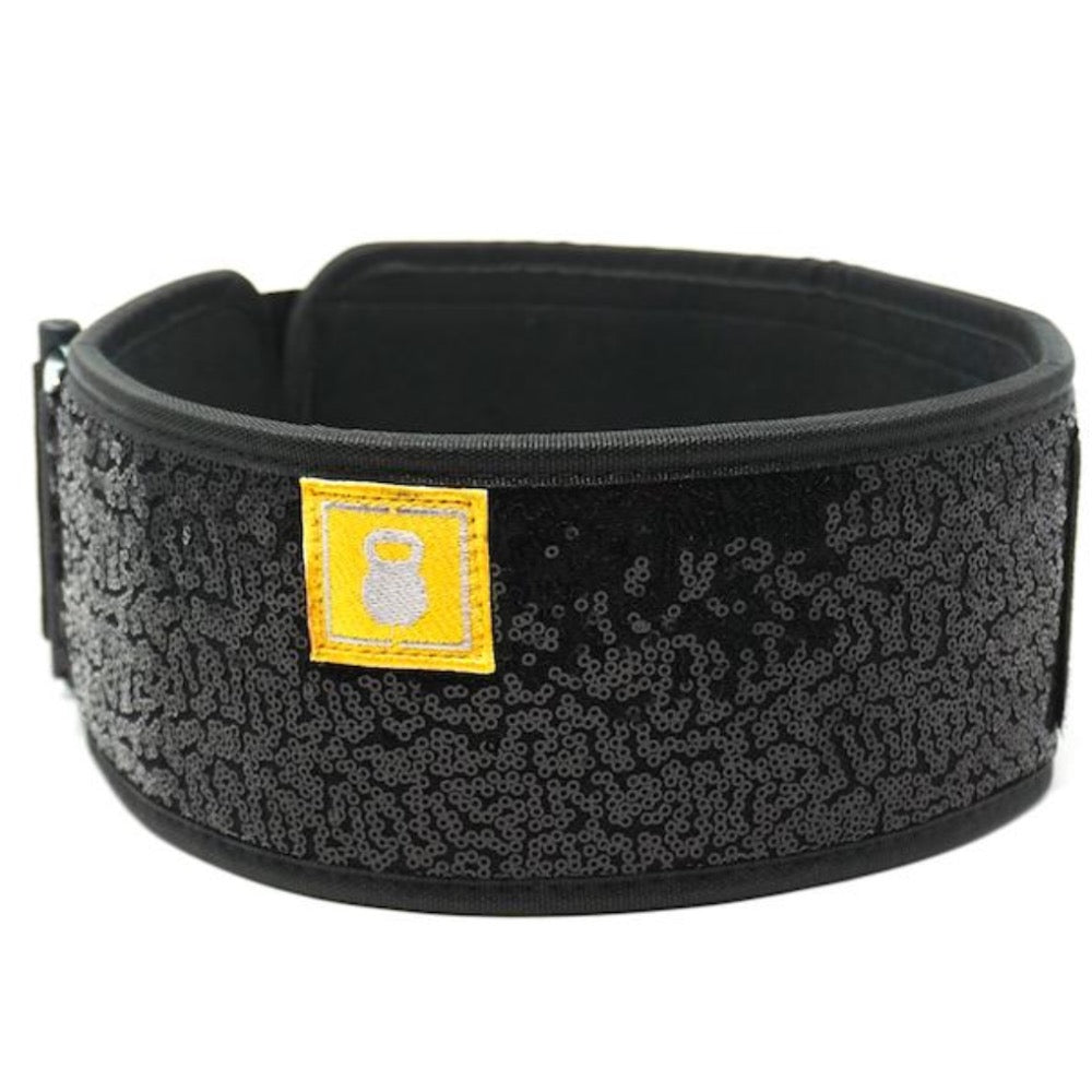 Black Sparkle 2POOD weightlifting belt