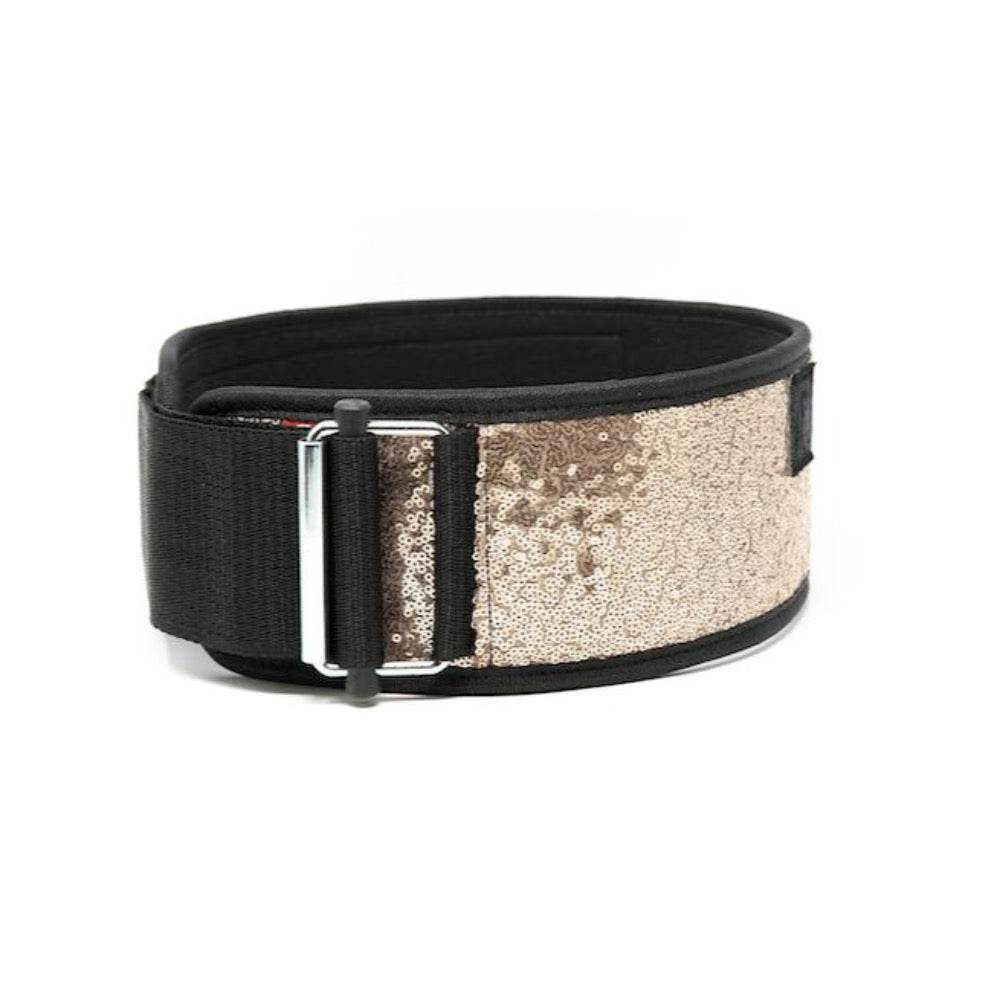 Rose Gold Sparkle 2POOD weightlifting belt