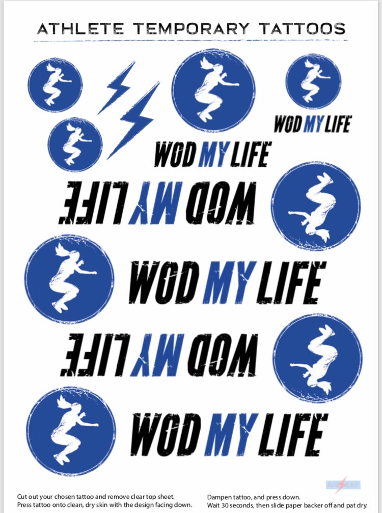 WODMYLIFE Temporary Tattoos.