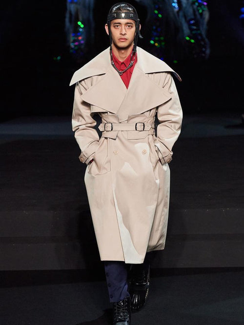 Beige Trench Coat - Coats & Jackets - Charles Jeffrey Loverboy - Elevastor