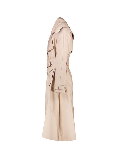 Beige Patter Trench Coat - Trenchs - Charles Jeffrey Loverboy - Elevastor