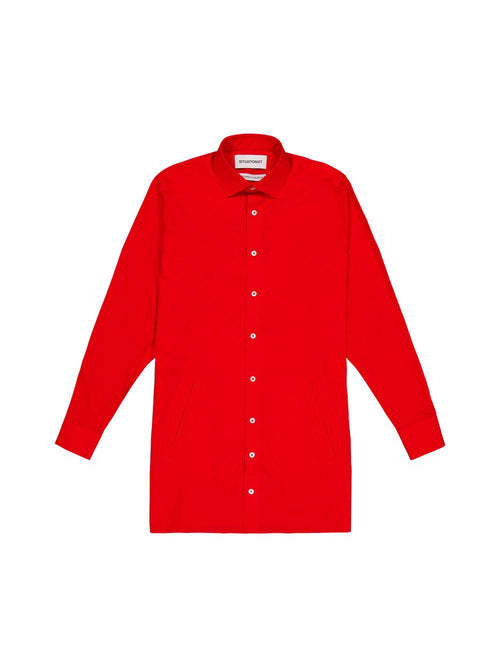 Red Long Shirt - Tops - Situationist - Elevastor