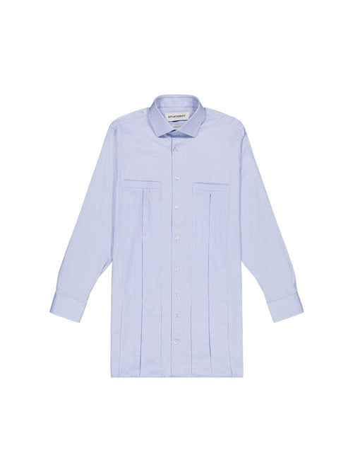 Blue Long Shirt - Tops - Situationist - Elevastor