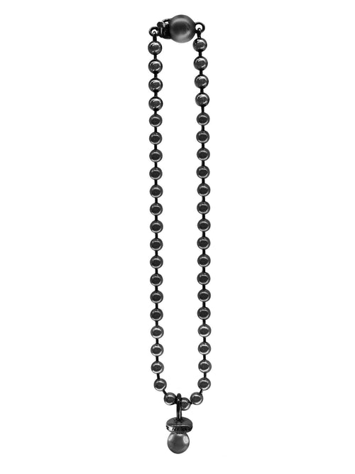 Black Ball Chain Sucker Necklace - Jewelry - Varon - Elevastor
