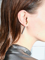Silver & Gold Single Earring - Earrings - Nu Atelier - Elevastor