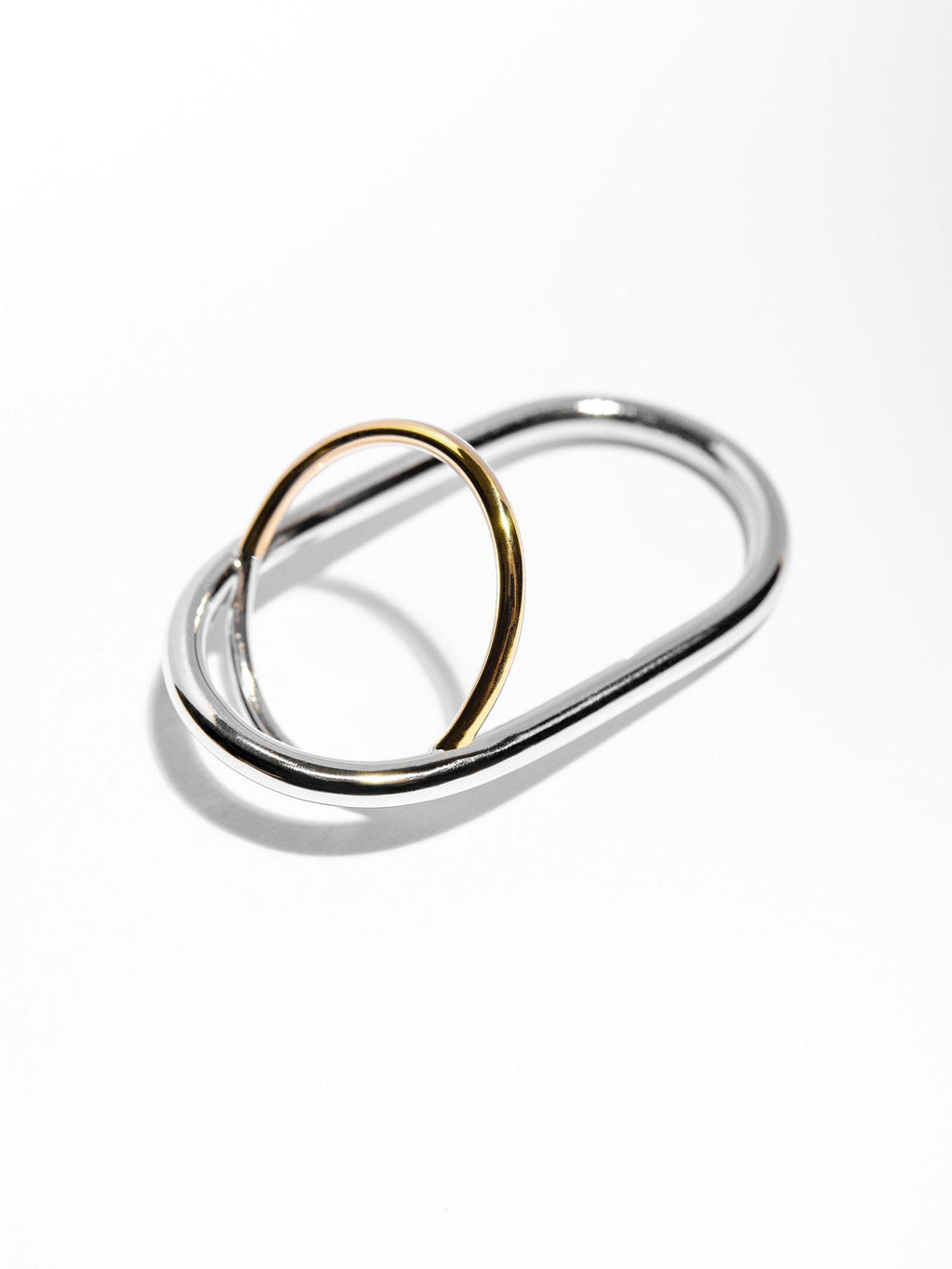 Silver Double Ring - Rings - Nu Atelier - Elevastor