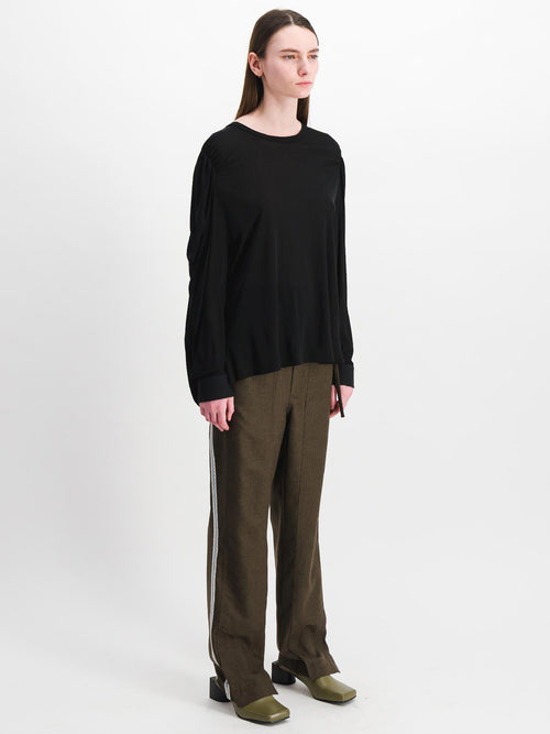 Khaki Side Cut Wool Trousers - Pants - Situationist - Elevastor