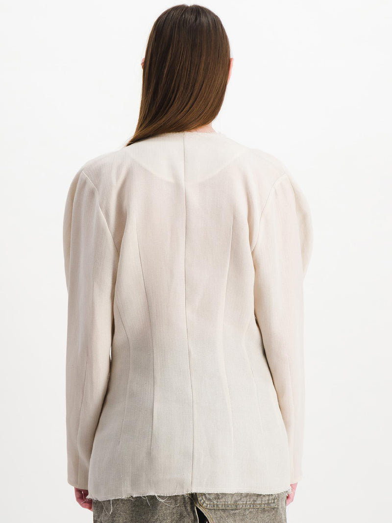 Off White Cross Front Silk Shirt - Tops - Situationist - Elevastor