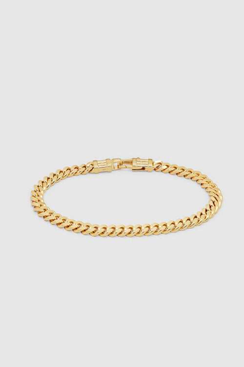 Gold Curb L Bracelet - Jewelry - Tom Wood - Elevastor