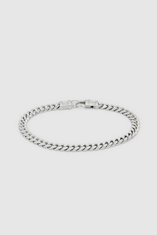 Silver Curb L Bracelet - Jewelry - Tom Wood - Elevastor