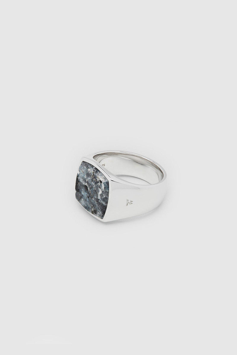 Silver Cushion Larvikite Ring - Jewelry - Tom Wood - Elevastor