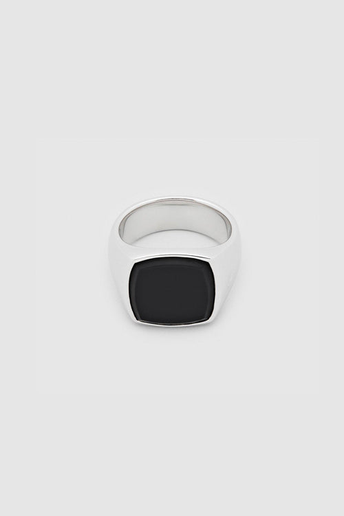 Cushion Black Onyx Ring - Jewelry - Tom Wood - Elevastor