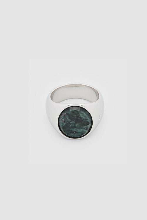 Silver Oval Green Marble Ring - Jewelry - Tom Wood - Elevastor