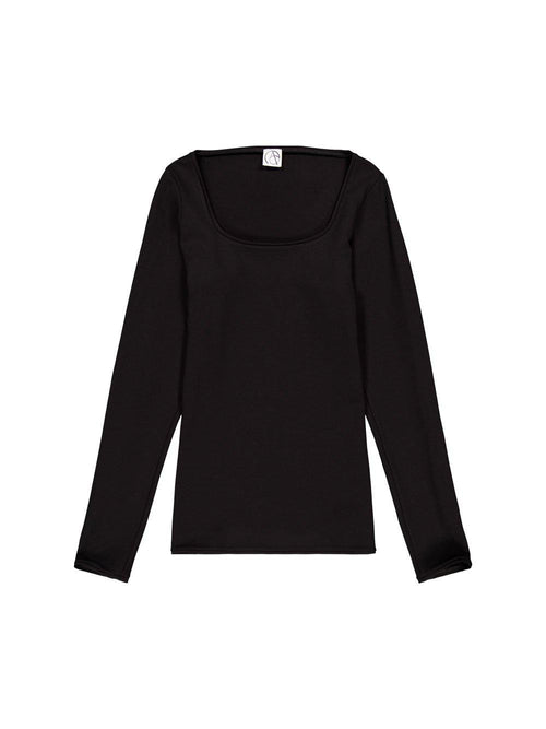 Black Long Sleeves Top - T-Shirts - Arturo Obegero - Elevastor