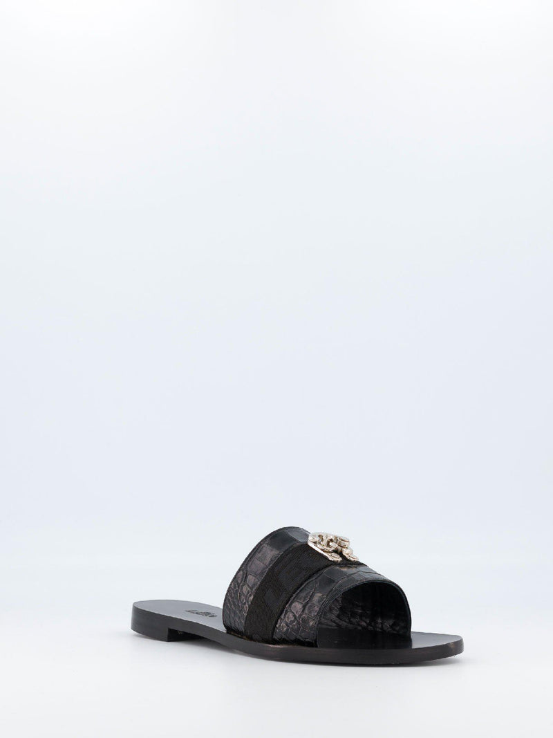 Black Swing Hook Slippers - Sandals - Leo - Elevastor