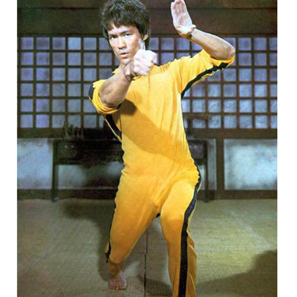 Bruce Lee Rompers for Kid Adults Yellow Wushu Uniforms Kung Fu Set Wu Shu Clothing Chinese Costume for Men Martial Arts Sets $20 - $50, height 120 cm, height 130 cm, height 140 cm, height 150 cm, height 160 cm, height 170 cm, height 180 cm, modalyst Kyokushin Store