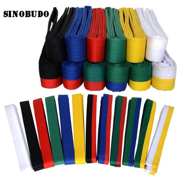 180 cm Taekwondo WTF Belt Color Belt Martial Arts Karate Judo Quality Cotton Belt Accessories, Belts Kyokushin Store