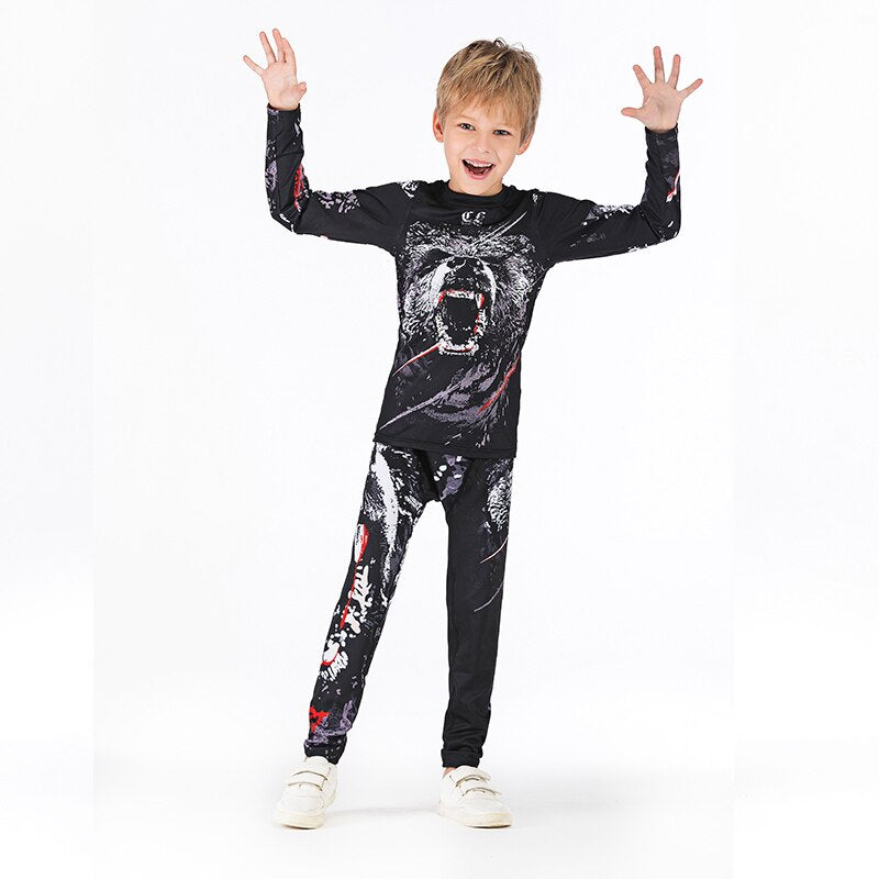 MMA Compression Rashguard and Pants for Kids