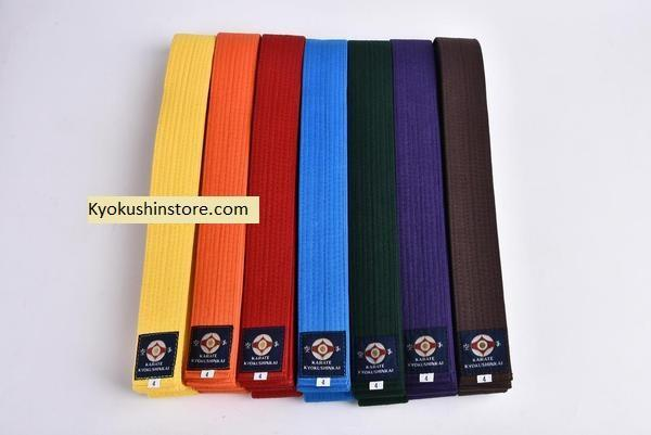 "Kyokushin Store Kyokushin Karate Belts Japan Tokyodo Belts ""Custom Name and Logo Embroidery Requests Accepted"" Kyokushin Store"
