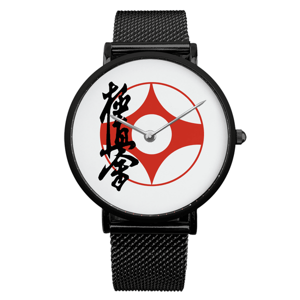 Black Type Steel Strap Water Resistance Quartz Watch Accessories, Kyokushin, Kyokushin-kan, Latest, Shinkyokushin, Watches Kyokushin Store