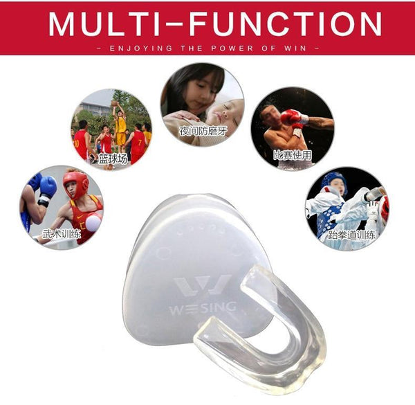 Kyokushin Store Mouth Guard for Professional Athletes Martial Art Fighting Gel Transparent Shaping Tooth Protector Kyokushin Store
