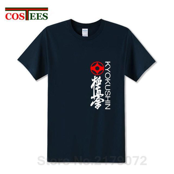Kyokushin Store New Summer Martial Art Kyokushin Karate T Shirt Men Cotton T-Shirt Short Sleeve Men Japan Karate heart T-shirt harajuku Tops Tee Kyokushin Store