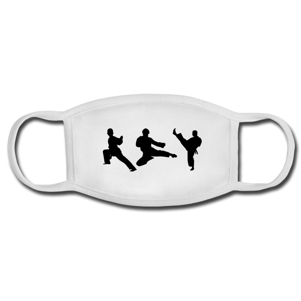 Karate Face Mask - white/white