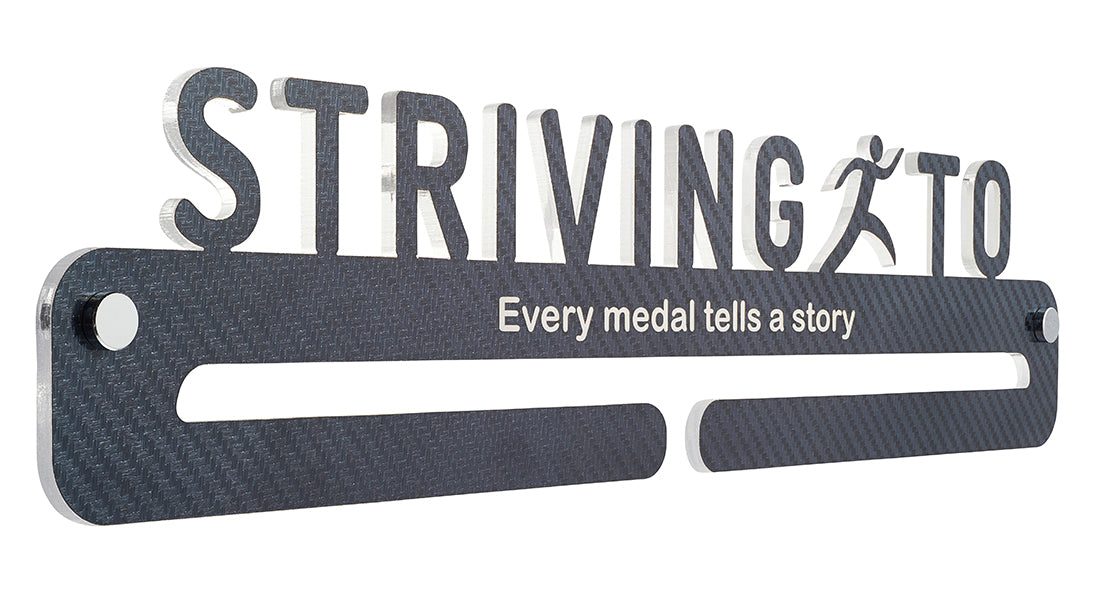 Medal Display - Carbon Fibre effect - Every medal tells a story