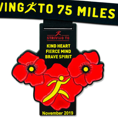 75 Miles - Striving To... Kind Heart, Fierce Mind, Brave Spirit