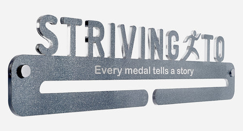 Medal Display - Metallic Titanium (glitter) effect - Every medal tells a story