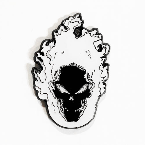 SPIRIT OF VENGEANCE Glow In The Dark Enamel Pin *orange*