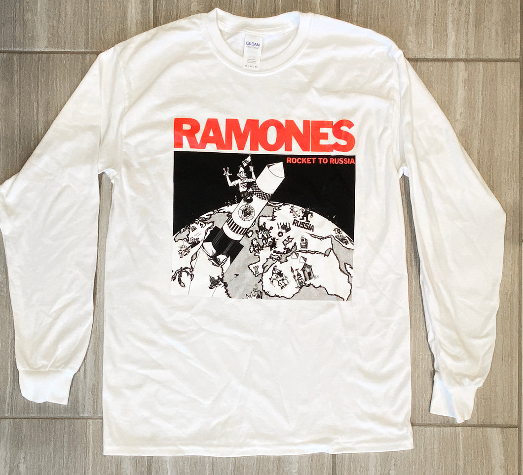 ROCKET TO RUSSIA Longsleeve T-Shirt - WHITE