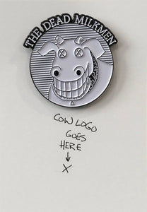 THE DEAD MILKMEN Cow Logo enamel pin