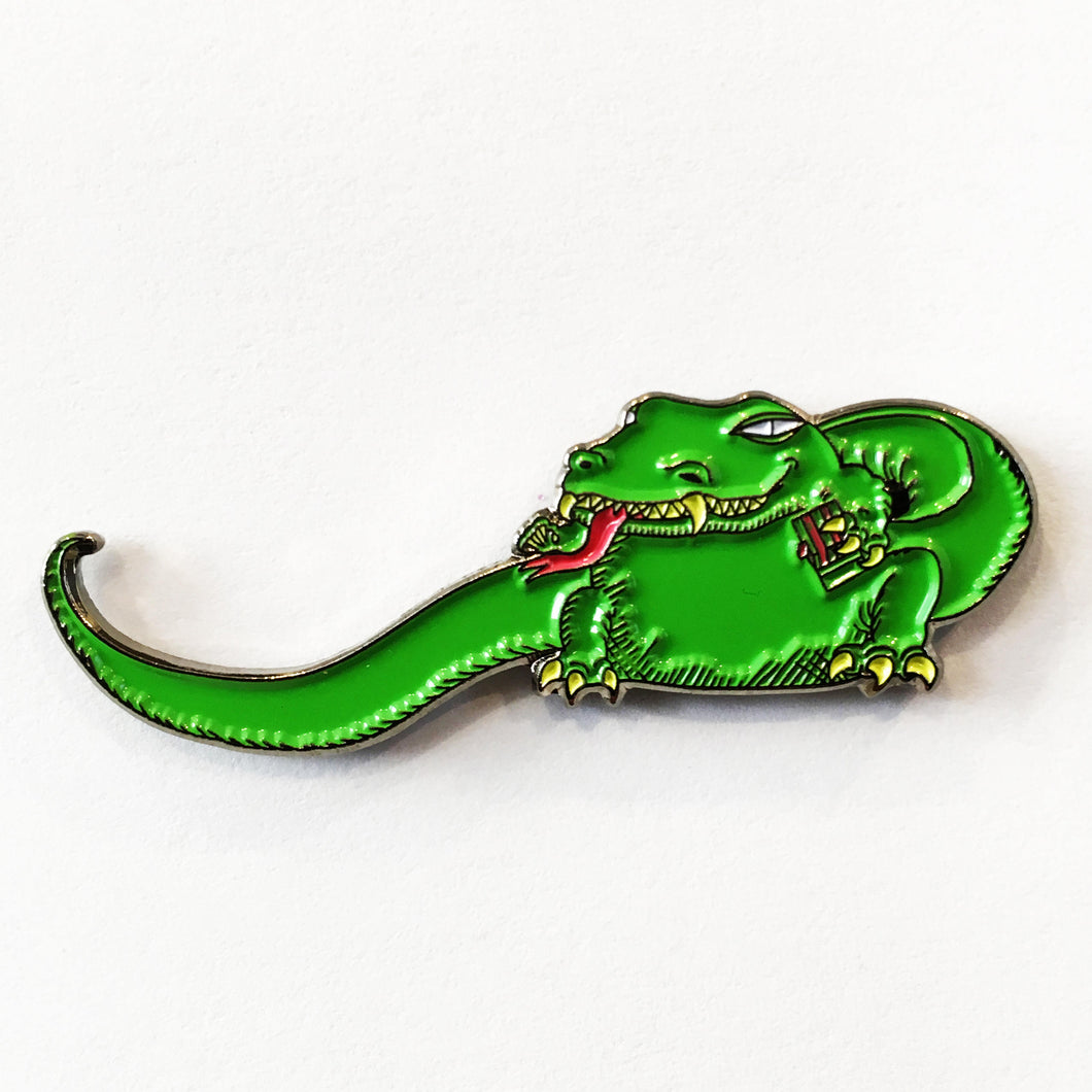 THE DEAD MILKMEN Big Lizard enamel pin
