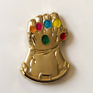 INFINITY GAUNTLET 3D Gold Metallic Enamel Pin
