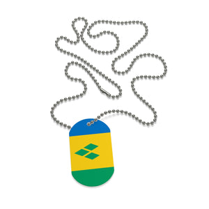 Caribbean Vibes St. Vincent Flag Dog Tag