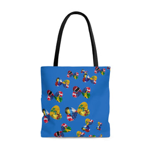 "Caribbean Vibes ""Wi Mixup"" Multi Flag Tote Bag"