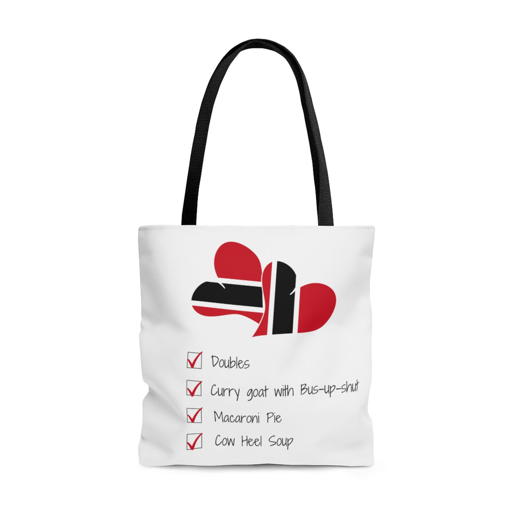 Caribbean Vibes Trinidad & Tobago Love Food Tote Bag