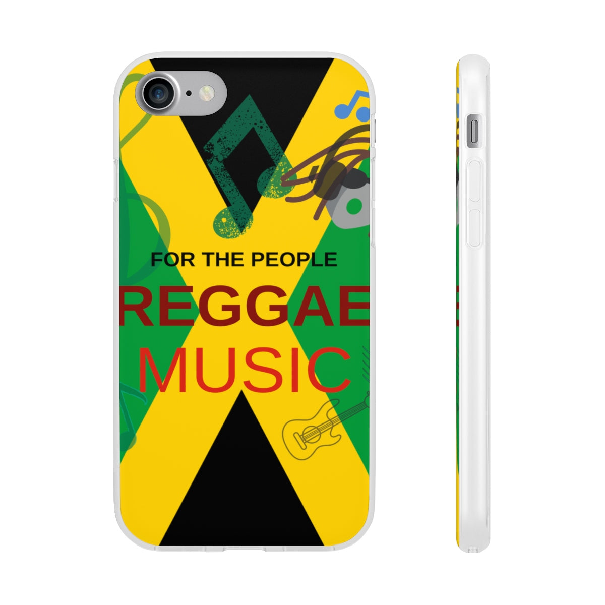 Reggae Music Clear TPU iPhone Case