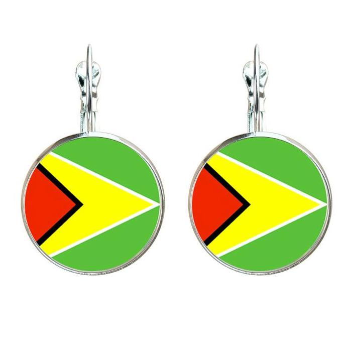 Caribbean Vibes - Guyana National Flag Earrings