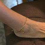 Initial Letter Anklet for Women in gold