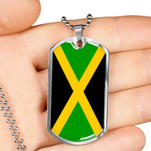 Caribbean Vibes Jamaica Dog Tags Silver or Gold