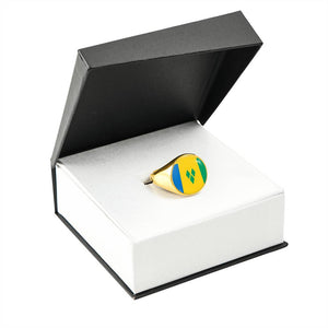 Caribbean Vibes St. Vincent Flag Ring