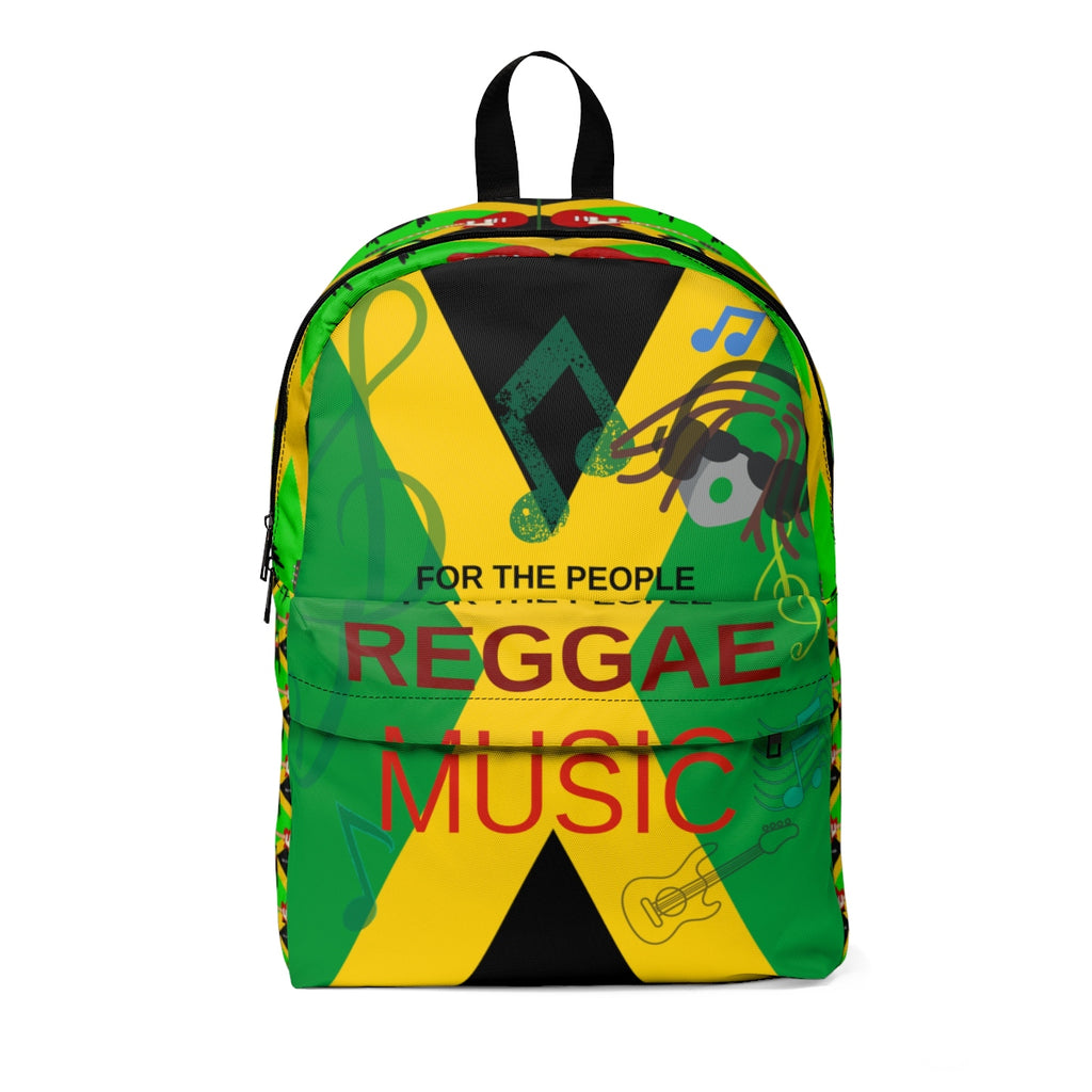 Caribbean Vibes Jamaica Flag Music Backpack