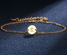 Personalized Charm Letter Bracelet in Gold